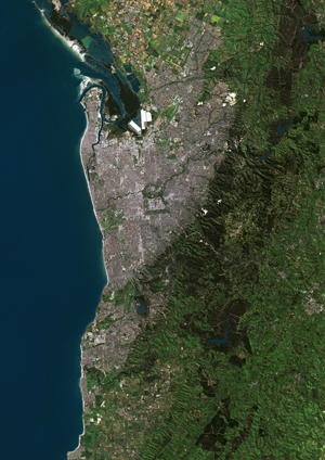 Adelaide, Australia Satellite Digital Map