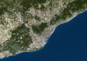 Barcelona, Spain Satellite Digital Map