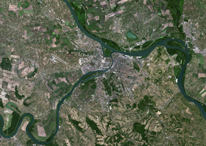 Belgrade, Serbia Satellite Digital Map