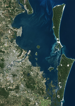 Brisbane, Australia Satellite Digital Map