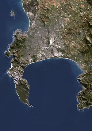 Cape Town South Africa Satellite Digital Map By Planet Observer - Digital satellite map