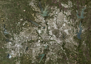 Dallas Texas Satellite Digital Map By Planet Observer From Maps Com