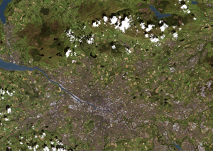 Glasgow,  Scotland Satellite Digital Map