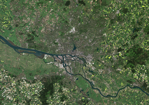 Hamburg, Germany Satellite Digital Map