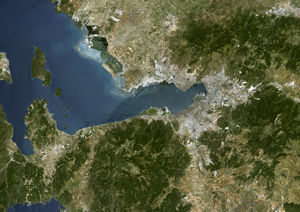 Izmir, Turkey Satellite Digital Map