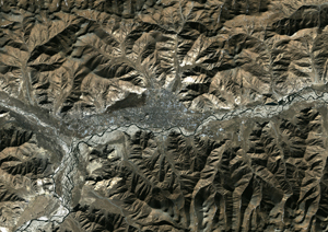 Lhasa, Tibet, China Satellite Digital Map