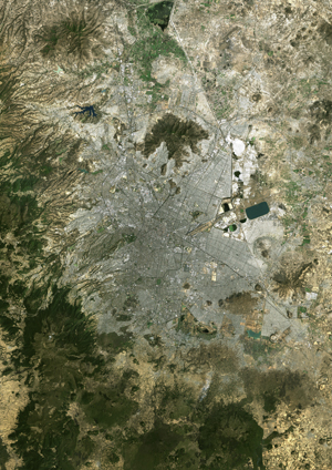mexico city mexico satellite digital map