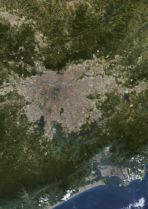 Sao Paulo, Brazil Satellite Digital Map