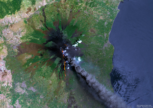 Mount Etna, Sicily Satellite Digital Map