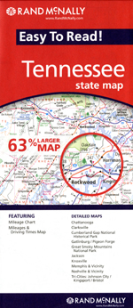 Rand McNally Tennessee Travel Map