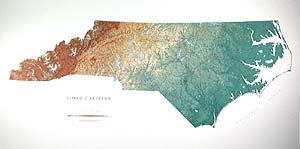 North Carolina Wall Map