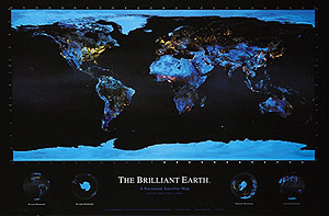 Brilliant Earth Wall Map