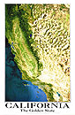 California Satellite Wall Map