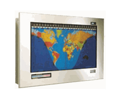Original Geochron Stainless Steel World Time Clock
