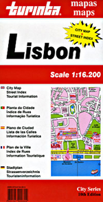 Lisbon, Portugal Street Map