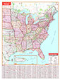 Eastern United States Wall Map
