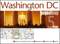 Washington, DC PopOut Street Map