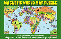 World Magnetic Puzzle Map