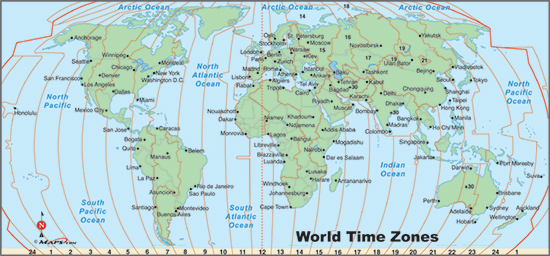 World Time Zone Map Printable Free Printable Maps