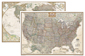 National Geographic USA and World Executive Wall Map Set