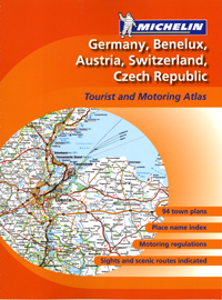 Germany, Benelux, Austria, Switzerland and Czech Republic Road Atlas