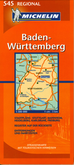 Germany, Southwest Travel Map