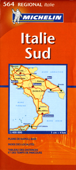 Italy, South Travel Map