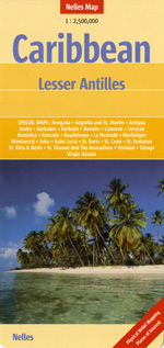 Caribbean - Lesser Antilles Travel Map