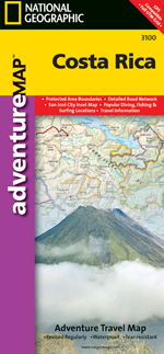 Costa Rica Adventure Travel Map