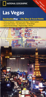National Geographic Las Vegas, NV Destination Map