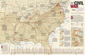 National Geographic Civil War Battles Wall Map