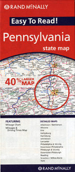 Rand McNally Pennsylvania Travel Map
