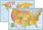 Rand McNally USA and World Wall Map Set