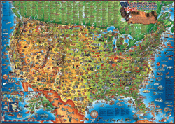 Children's USA Wall Map