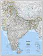 National Geographic India Wall Map