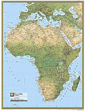 National Geographic Physical Africa Wall Map