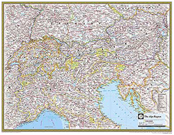 National Geographic The Alps Region Wall