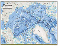 National Geographic Arctic Ocean Floor Wall Map