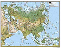 National Geographic Asia Physical Wall Map by National Geographic ... Asia Wall Maps