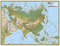 National Geographic Asia Physical Wall Map