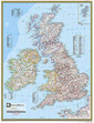 National Geographic Britain and Ireland Wall Map