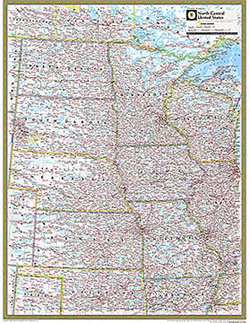 National Geographic North Central US Wall Map