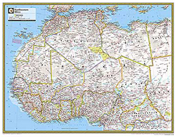 National Geographic Northwestern Africa Wall Map