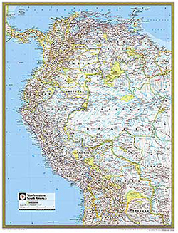 National Geographic Northwestern South America Wall Map