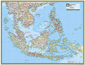 National Geographic Southeast Asia Wall Map