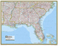 National Geographic Southeastern US Wall Map