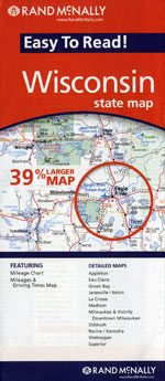 Rand McNally Wisconsin Travel Map