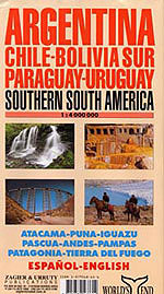 South America, Southern Region Travel Map